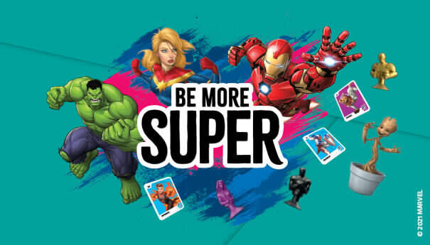 Be More Super with Marvel!
