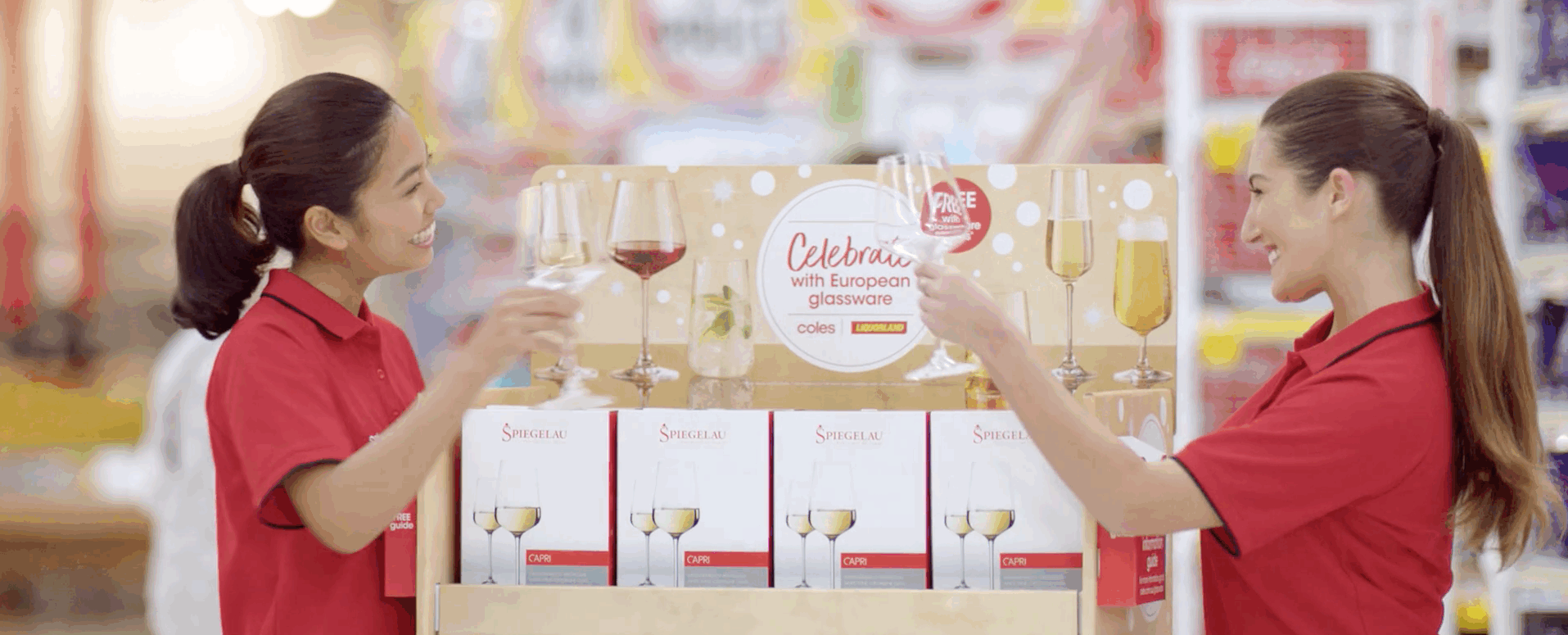 Coles celebrates Aussie <strong>Christmas with Spiegelau </strong>Glassware!