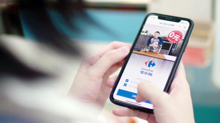 First fully digital program in China with Carrefour