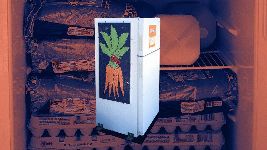 Grocery start-up donates food throughstreet fridges