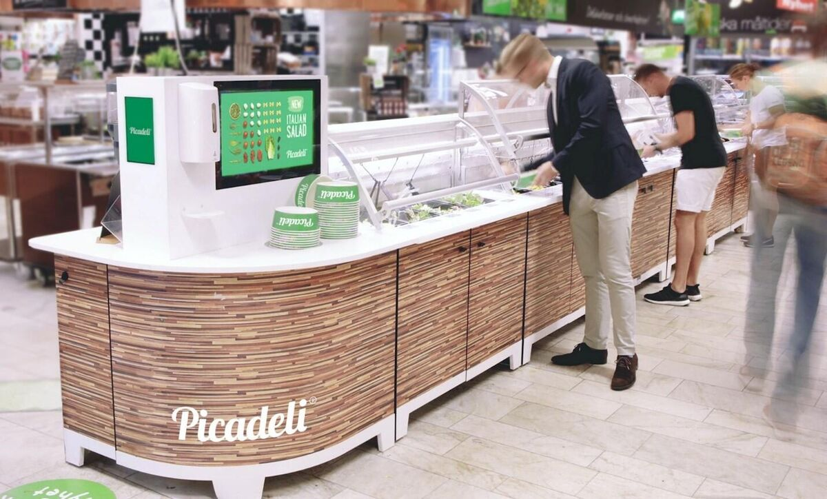New high-tech salad bar at Rewe Germany
