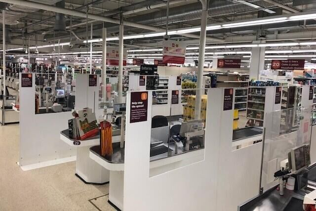 Sainsbury's introduces new safetyscreens between checkouts