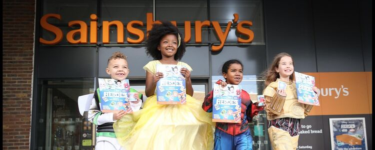 The launch of Disney Heroes at Sainsbury's