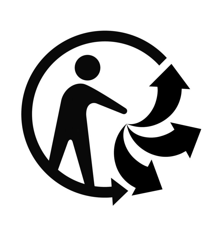 Triman unified recycling signage