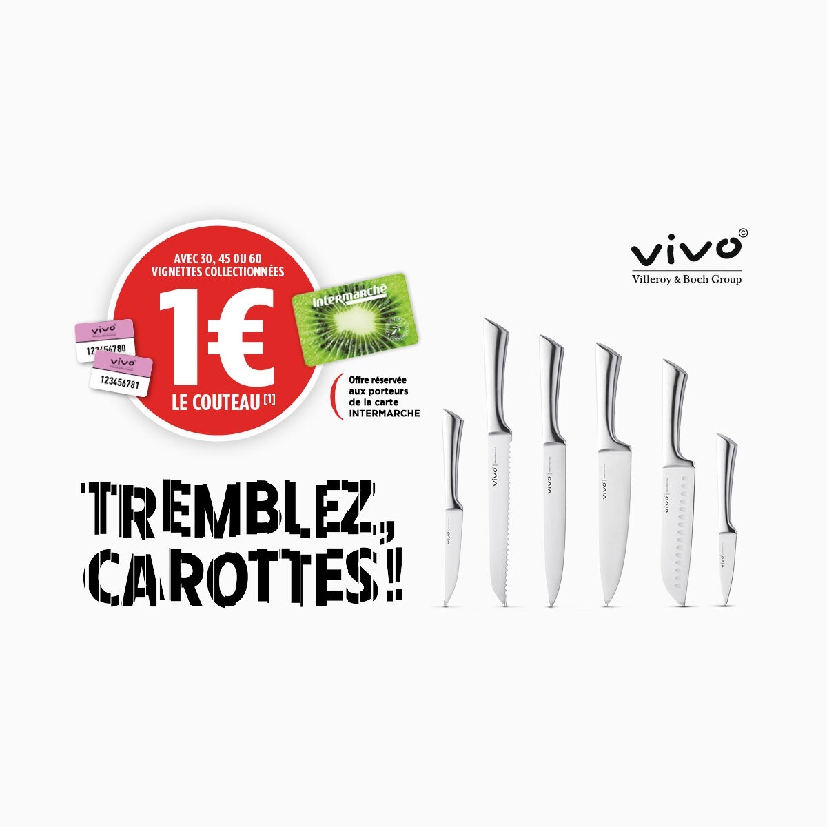 vivo knives for €1 with Intermarché in France